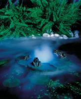 плавающий фонтан с туманообразователем - украшение для садового пруда