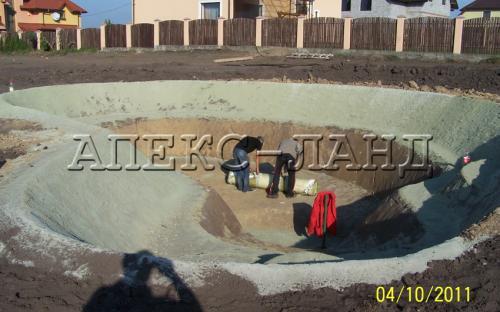 будівництво ставка котлован