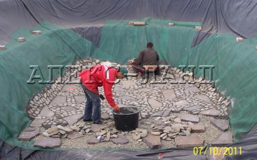 будівництво ставка дно