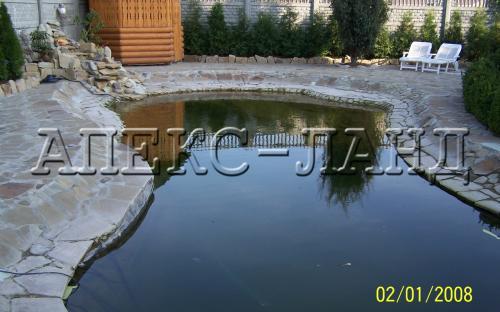 искусственный пруд для плавания