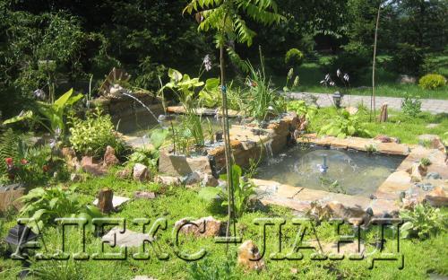 декоративный водоем в саду