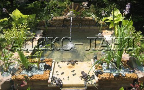 декоративний ставок в саду, автор Жаров І.Р.