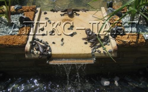 водоспад в саду, єлемент декору